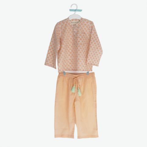 Pyjama fille Bindi Atelier - imprimé à la main