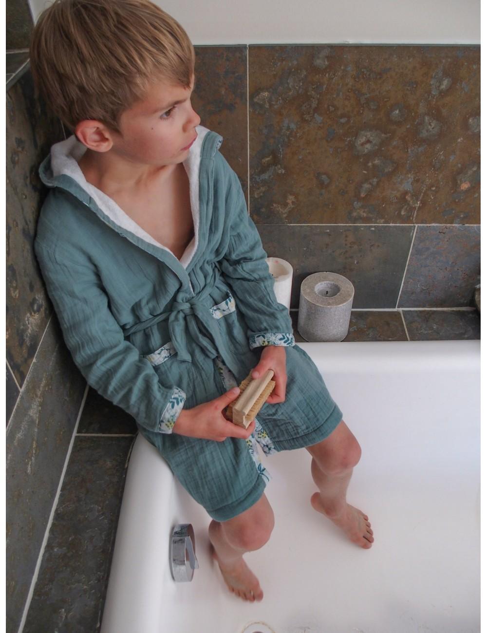 Peignoir enfant - Avani Indigo